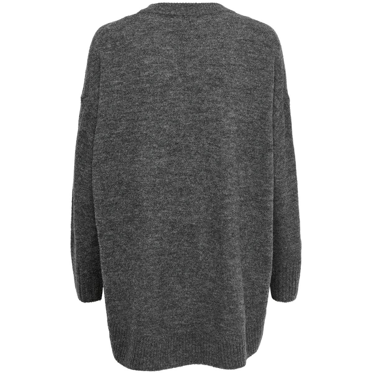onlmirna l/s long pullover knt 15184001 only trui dark grey melange