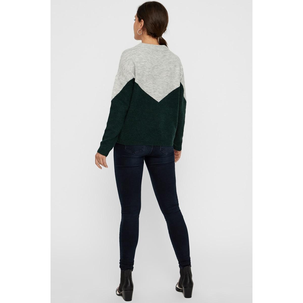 vmrana ls o-neck block blouse boo 10217843 vero moda trui light grey mela/w. pondero