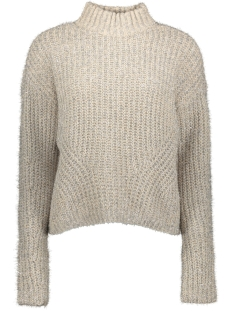 Pieces Trui PCJENNY LS HIGH NECK KNIT 17099899 Almond Milk/SILVER