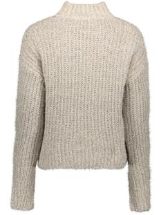 pcjenny ls high neck knit 17099899 pieces trui almond milk/silver