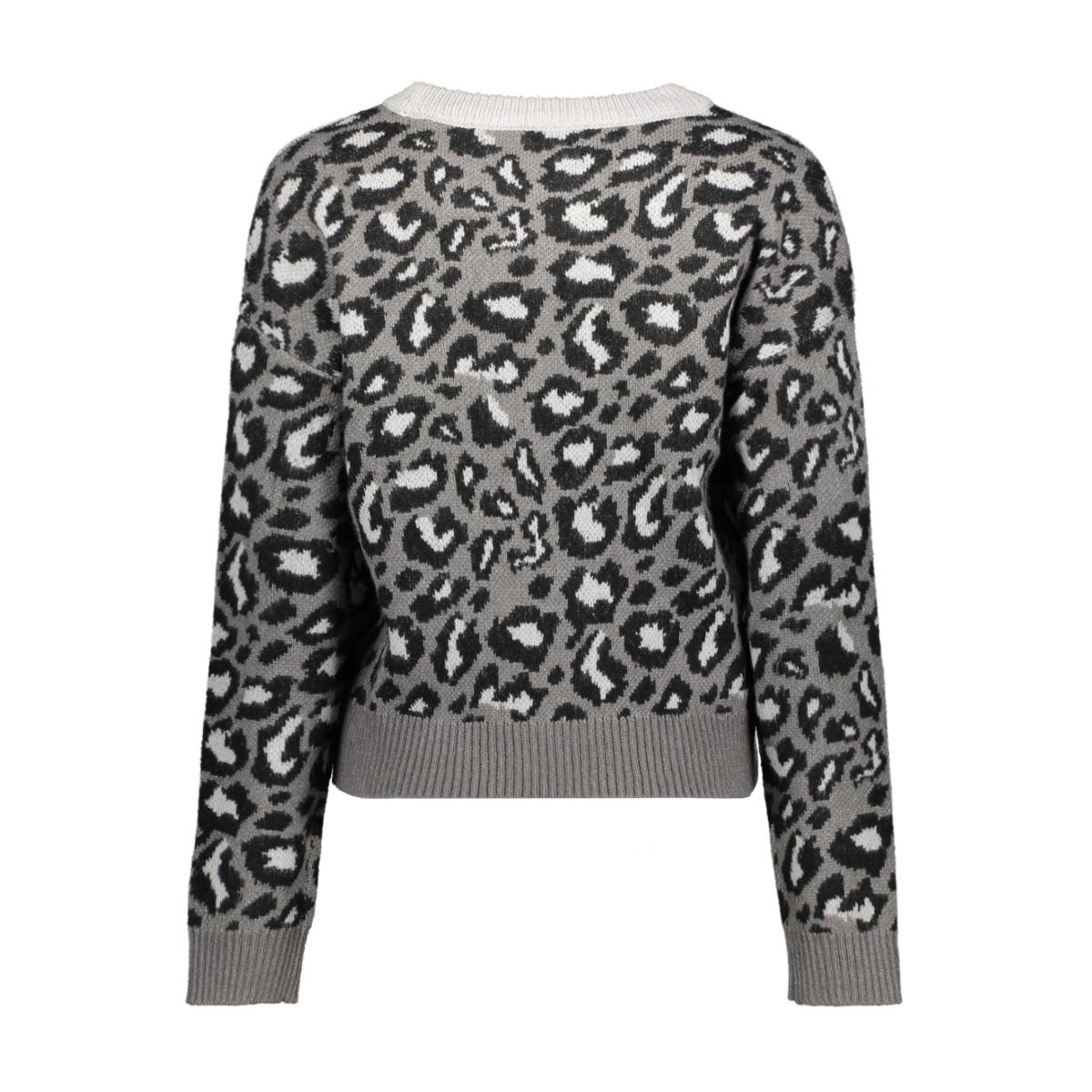 vmleon block ls o-neck blouse 10221713 vero moda trui tornado/w. black a