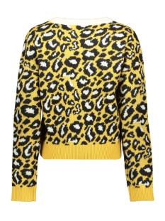 vmleon block ls o-neck blouse 10221713 vero moda trui amber gold/w. black a