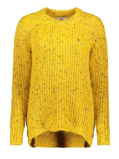 onlhanni l/s o-neck pullover knt 15184578 only trui golden yellow/w. multi co