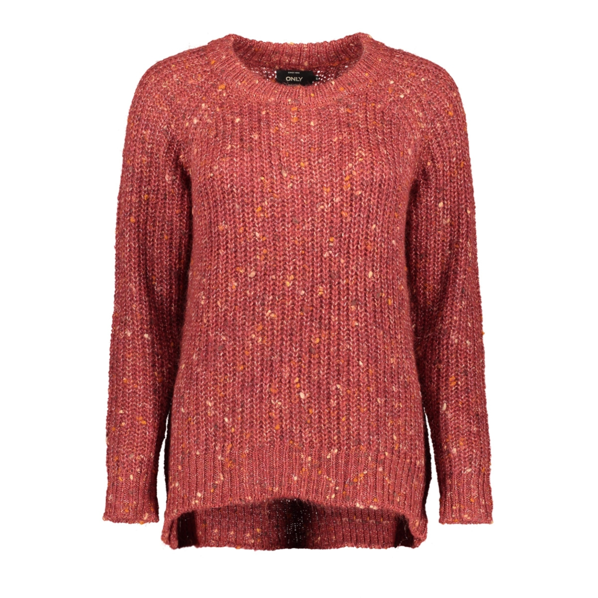 onlhanni l/s o-neck pullover knt 15184578 only trui merlot/. multi co