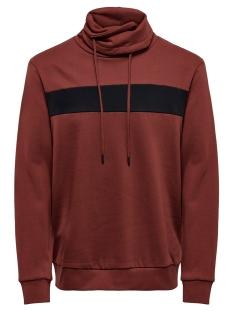 Only & Sons sweater ONSMOL REG  LS HIGH NECK SWEAT 22015204 Madder Brown