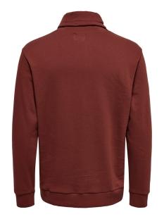 onsmol reg  ls high neck sweat 22015204 only & sons sweater madder brown