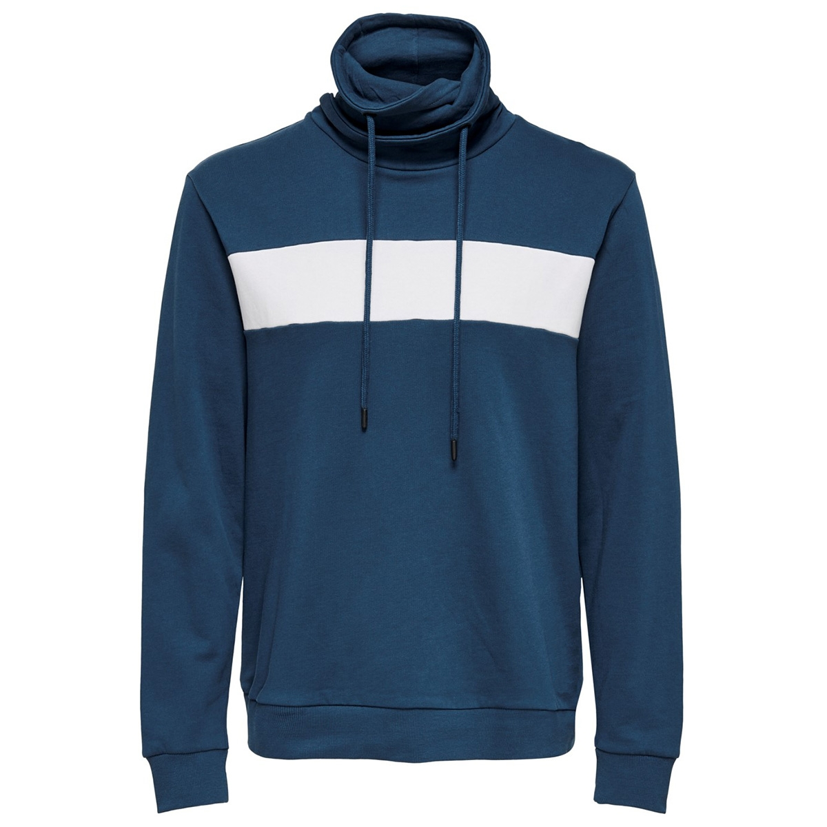 onsmol reg  ls high neck sweat 22015204 only & sons sweater insignia blue