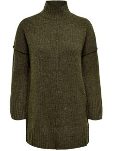 onlelaina l/s long pullover knt 15183701 only trui beech/w. melange