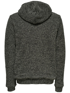onskenneth 7 teddy  full zip knit r 22014134 only & sons vest black