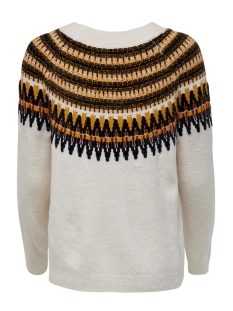 onlayoelle l/s pullover knt 15183839 only trui cloud dancer/w. golden