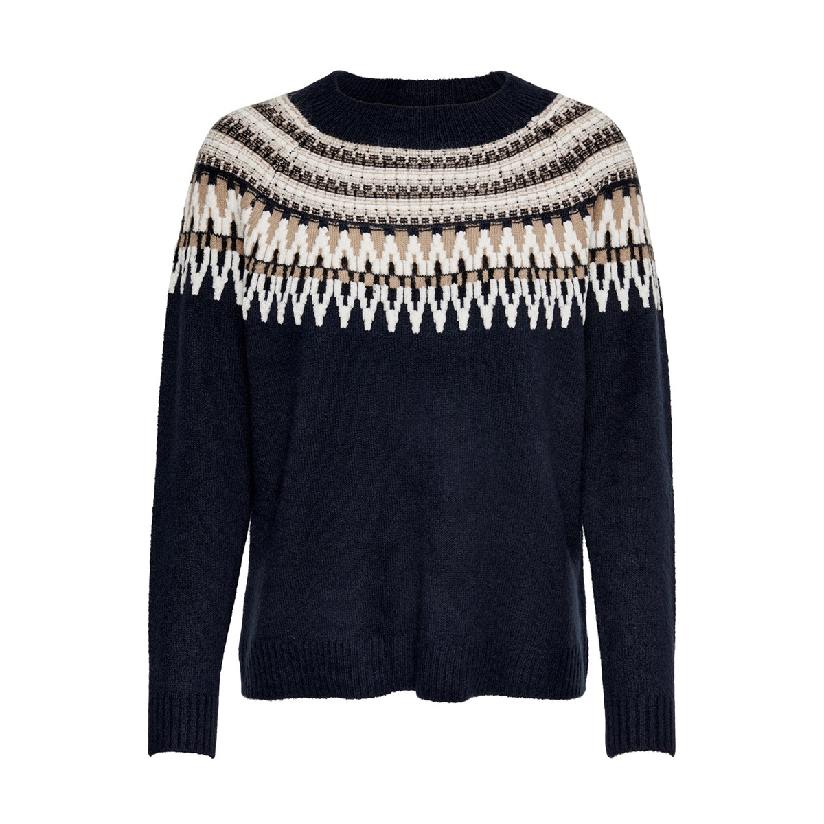 onlayoelle l/s pullover knt 15183839 only trui night sky/w. cloud dancer