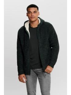 onskenneth 7 teddy  full zip knit r 22014134 only & sons vest darkest spruce