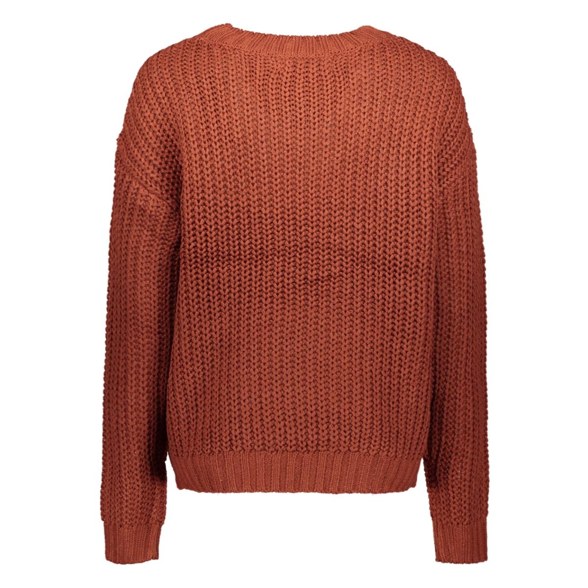 vmpresley alpine ls o-neck blouse b 10217786 vero moda trui madder brown