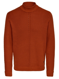 Only & Sons Trui ONSROLAND 7 STRUCTURE HIGH NECK KNI 22015033 Rooibos Tea