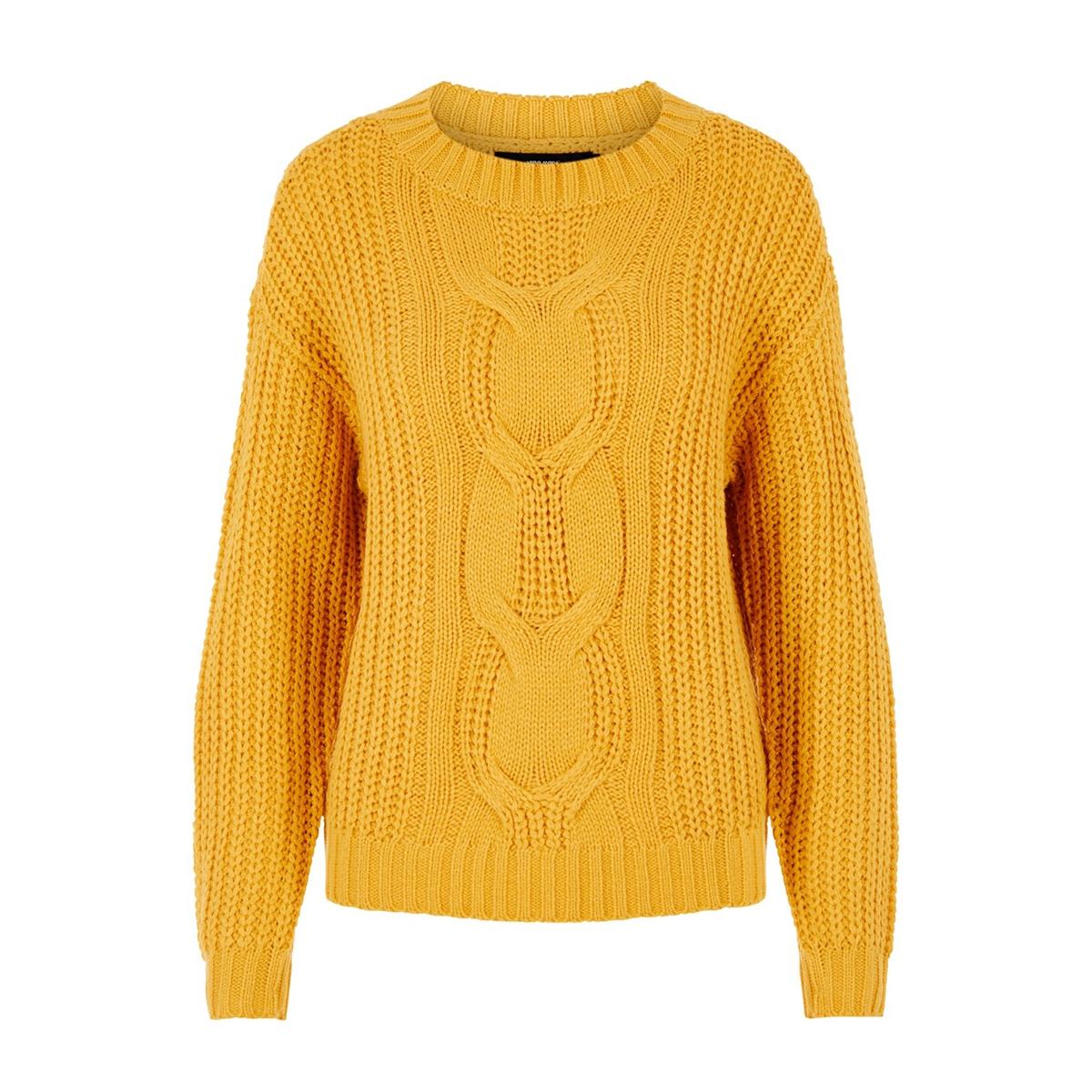 vmpresley alpine ls o-neck blouse b 10217786 vero moda trui amber gold