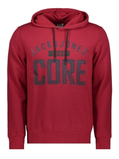 jcocarving sweat hood 12162132 jack & jones sweater rio red