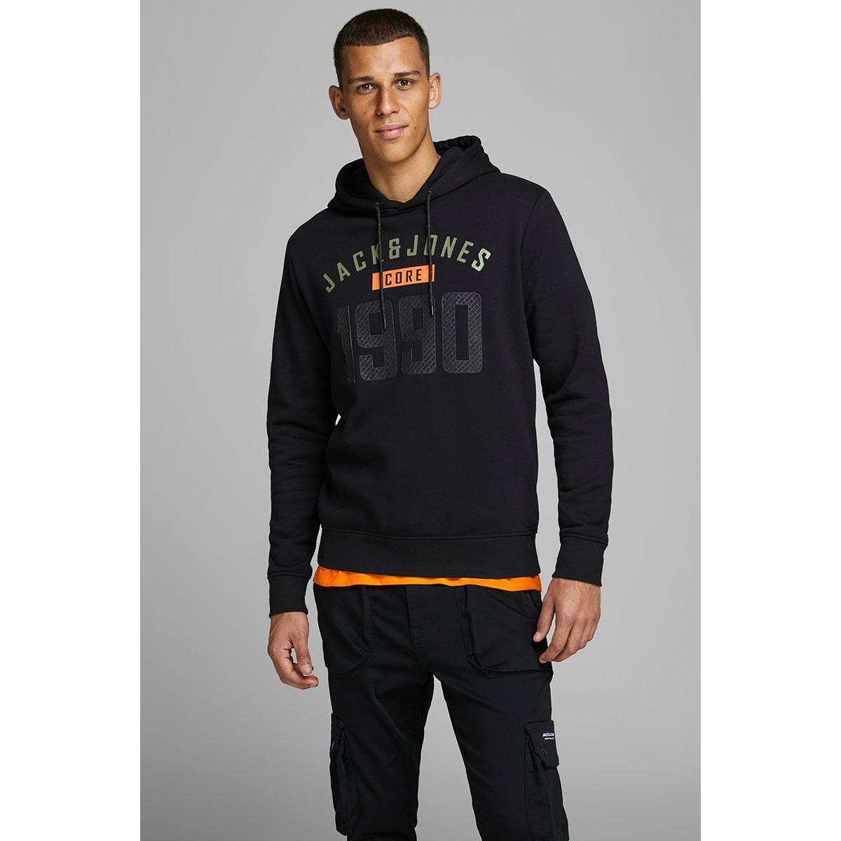 jcocarving sweat hood 12162132 jack & jones sweater black