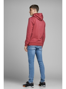 jorbrandon sweat hood 12162184 jack & jones sweater brick red