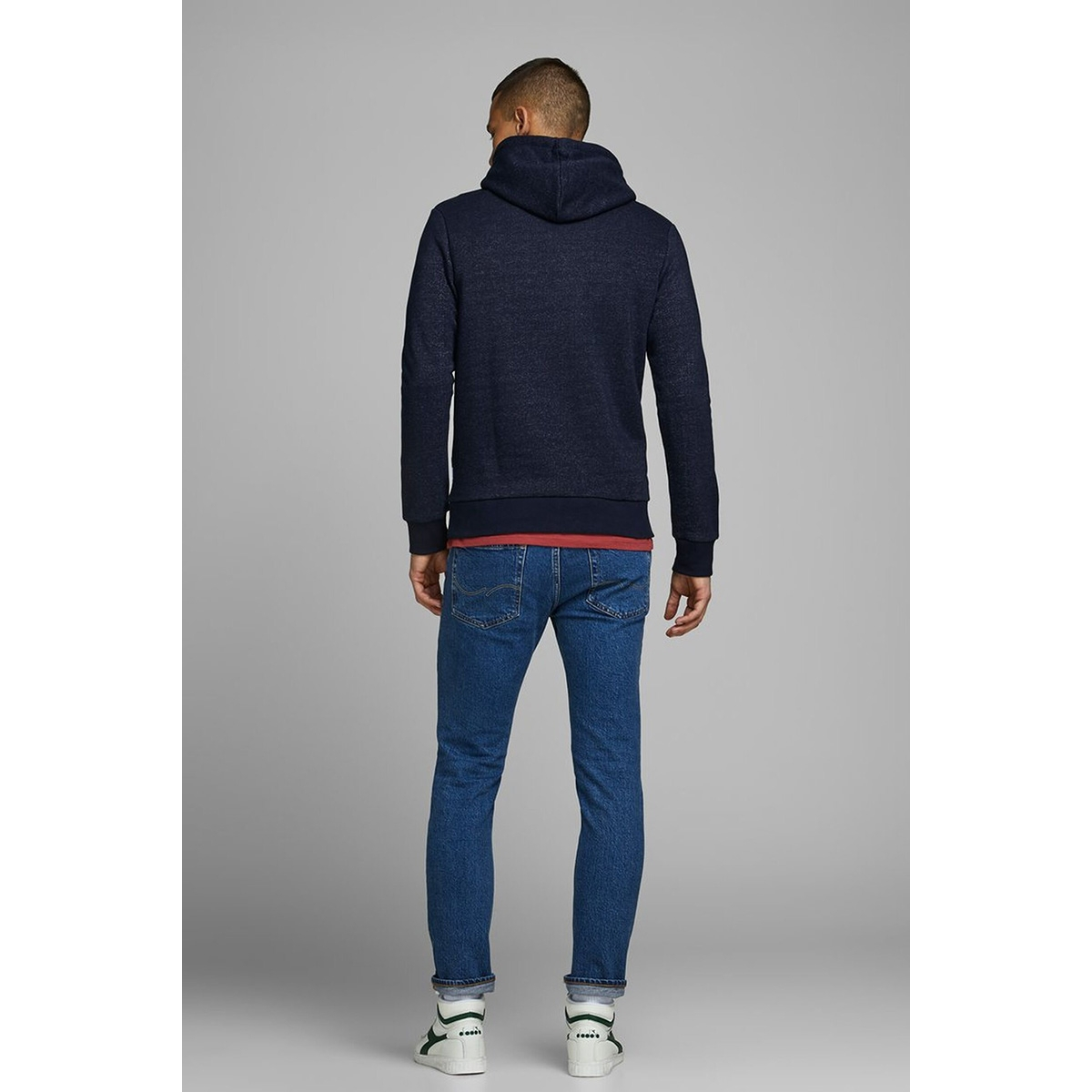jorbrandon sweat hood 12162184 jack & jones sweater navy blazer