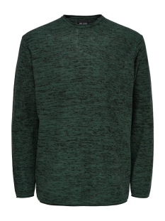 Only & Sons Trui ONSGARSON 12 MELANGE CREW NECK KNIT 22014420 Trekking Green