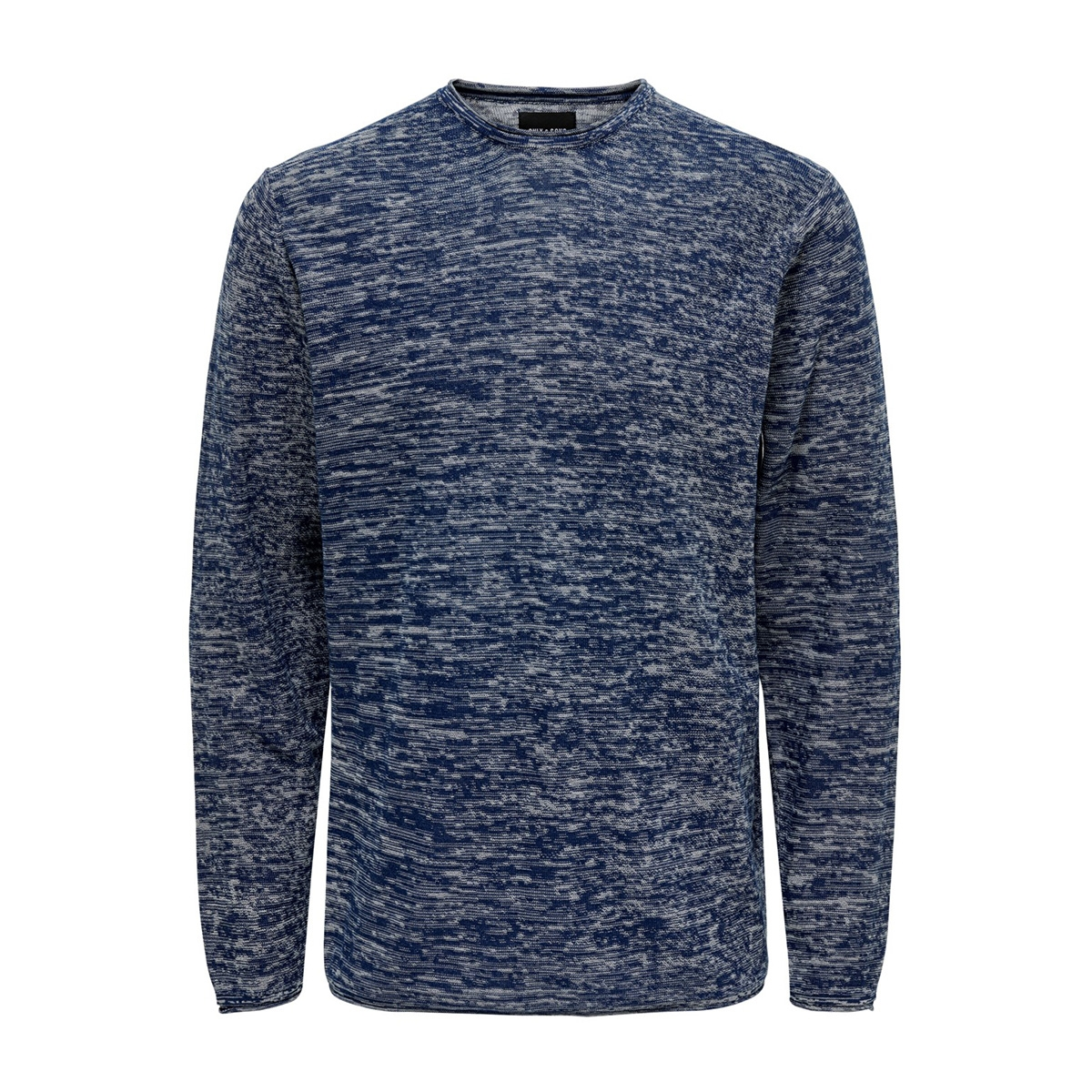 onsgarson 12 melange crew neck knit 22014420 only & sons trui insignia blue
