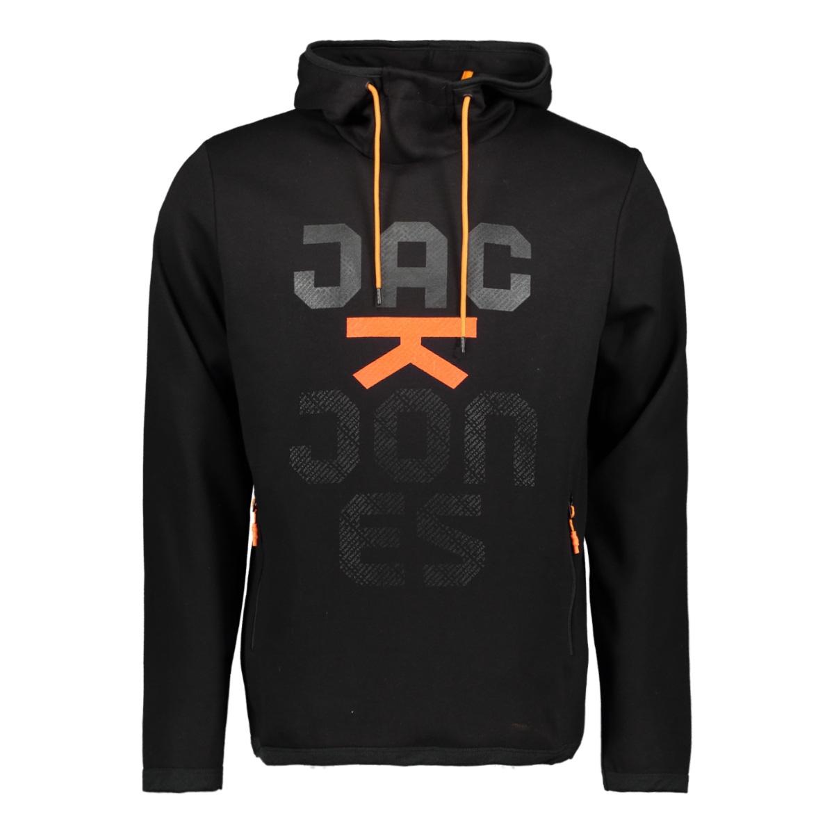 jcozoom sweat hood 12164145 jack & jones sweater black