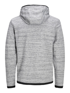 jcozoom sweat hood 12164145 jack & jones sweater light grey melange