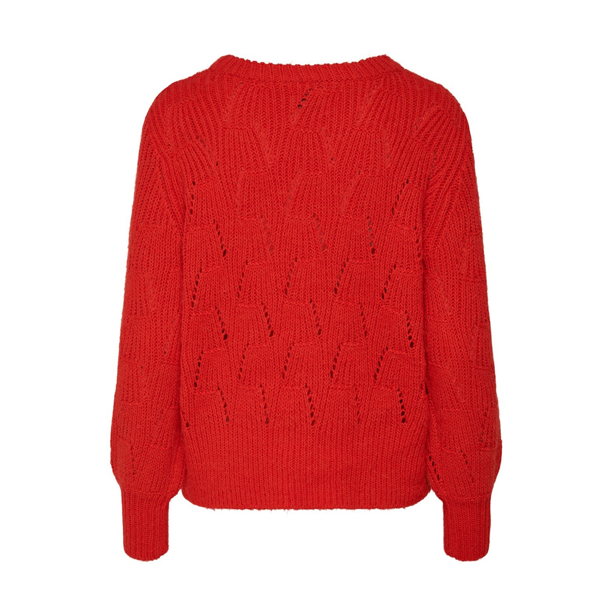 onllucy l/s pullover knt 15189240 only trui fiery red