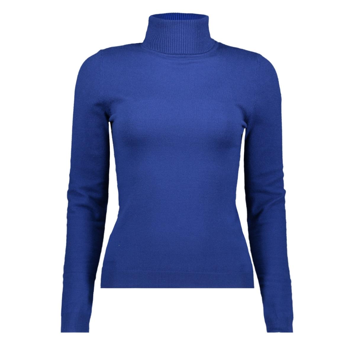 vmhappy basic ls rollneck blouse bo 10221302 vero moda t-shirt sodalite blue