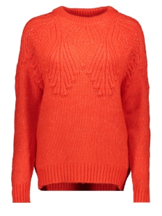 Only Trui ONLANELIA L/S PULLOVER KNT 15183934 Fiery Red