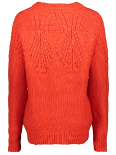 onlanelia l/s pullover knt 15183934 only trui fiery red
