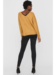 vmrana ls v-neck lace back blouse b 10217842 vero moda trui amber gold