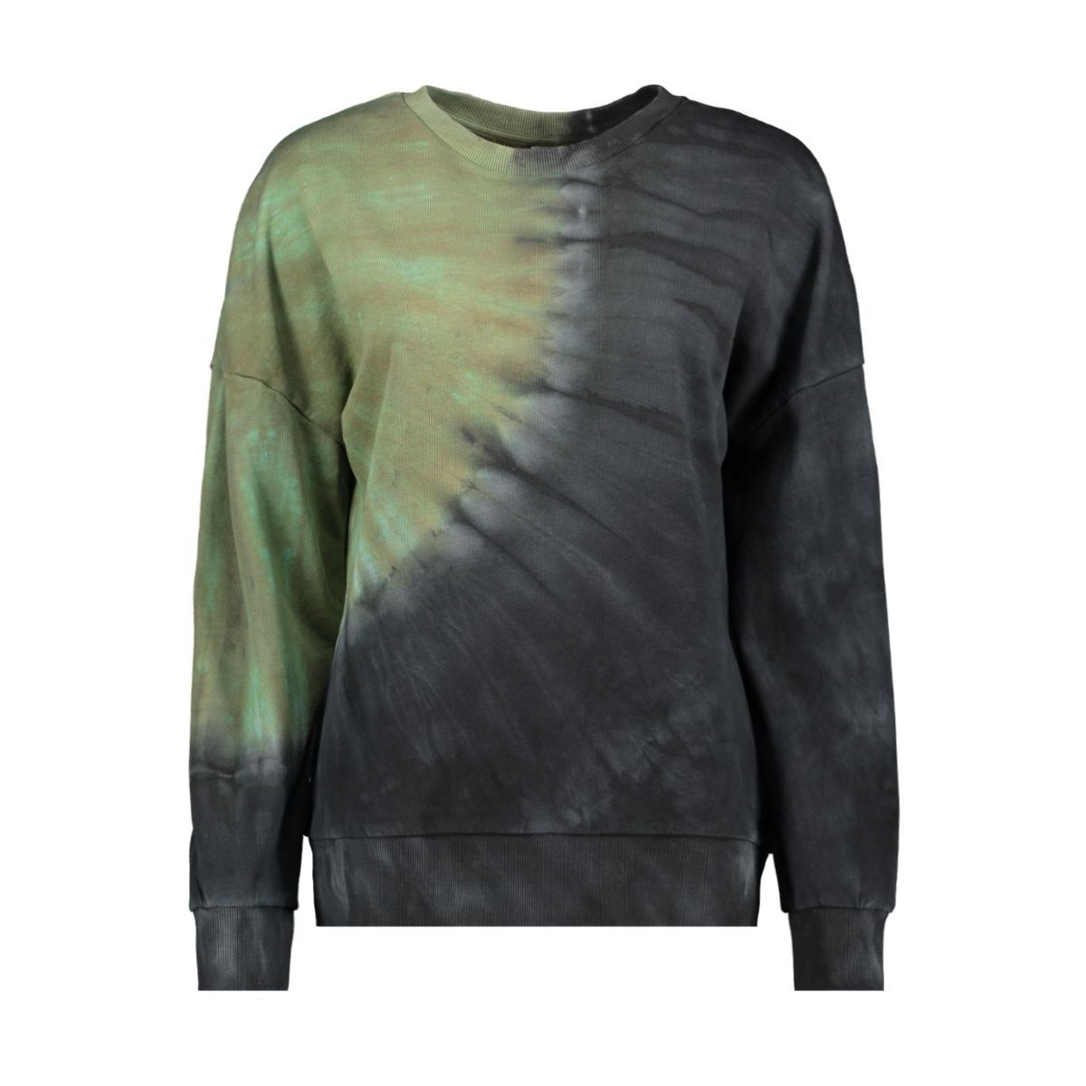nmmalia l/s sweat bg 27010340 noisy may sweater black/tie dye