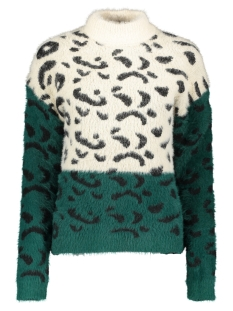 Only Trui ONLELIZ L/S HIGHNECK PULLOVER KNT 15183927 Pumice Stone/W.FOREST B