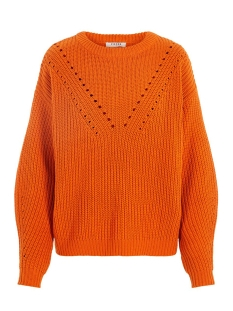 Pieces Trui PCJO LS O-NECK KNIT CAMP 17100494 Marmalade