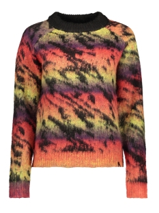 Noisy may Trui NMMARTIN L/S O-NECK KNIT H 27009534 Black/MULTI COLO