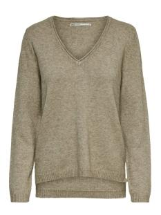 onllesly new v-neck pullover knt 15192254 only trui beige/w. melange