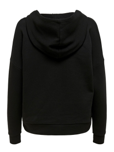 onlevie l/s hoodie jrs 15207798 only sweater black/w. embroid