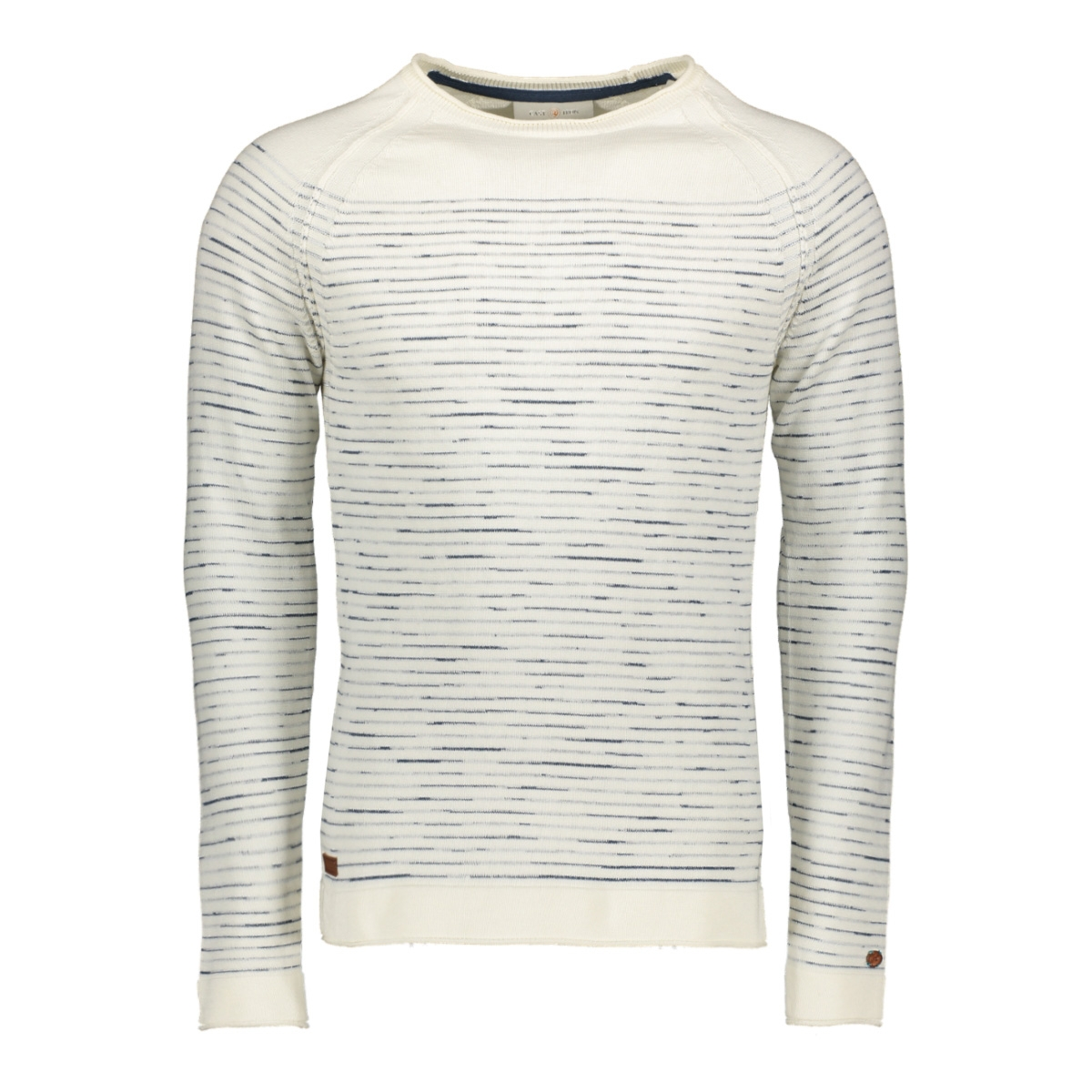 cotton stripe crewneck ckw198401 cast iron trui 7001
