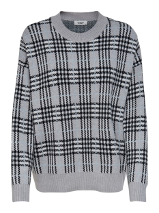 Jacqueline de Yong Trui JDYTINA L/S PULLOVER KNT EXP 15186682 Light Grey Melange/CD/BLACK/CHECKS