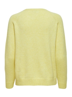 onllesly kings l/s pullover knt noo 15170427 only trui elfin yellow/w. melange
