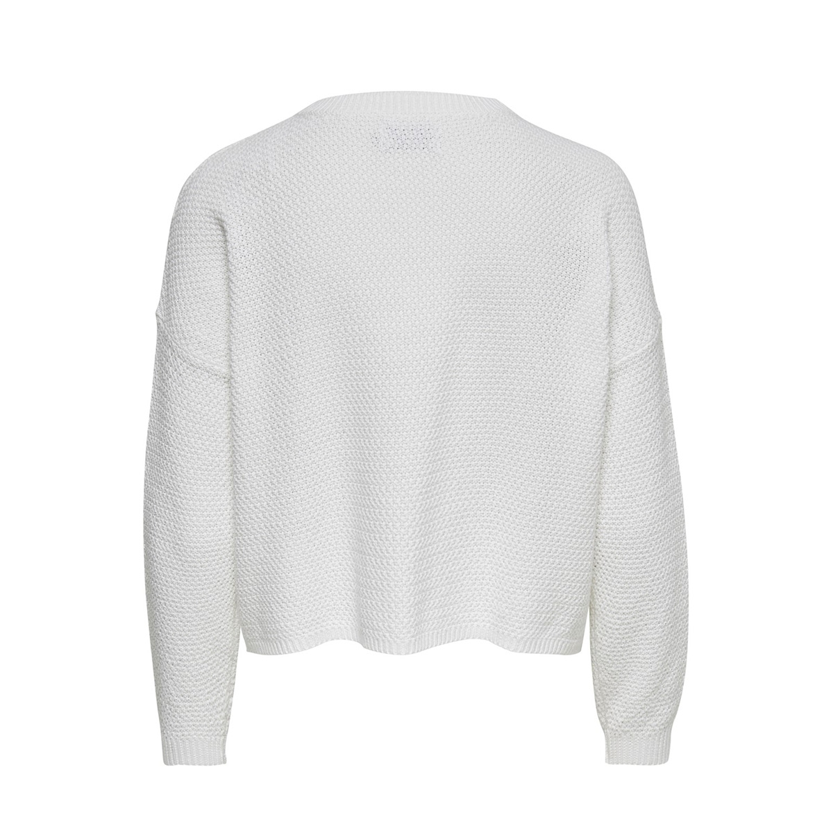 onlsara l/s shortcable  pullover cc 15192336 only trui cloud dancer