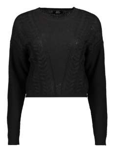 Only Trui ONLSARA L/S SHORTCABLE  PULLOVER CC 15192336 Black
