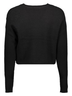 onlsara l/s shortcable  pullover cc 15192336 only trui black