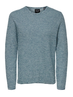 Only & Sons Trui onsWICTOR 12  STRUCTURE CREW NECK N 22012290 Dark Blue
