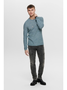 onswictor 12  structure crew neck n 22012290 only & sons trui dark blue