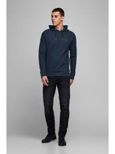 jprblahardy sweat hood pre sts 12166526 jack & jones sweater black iris/slim fit