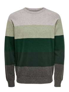 Only & Sons Trui ONSMIKKEL 12 SOFT  BLOCKED RAGLAN K 22015212 Oil Green
