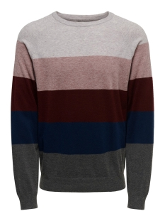 Only & Sons Trui ONSMIKKEL 12 SOFT  BLOCKED RAGLAN K 22015212 Rose Taupe