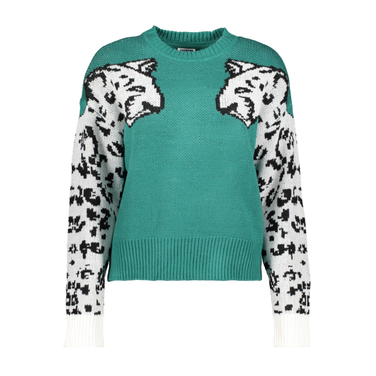 nmcool l/s o-neck knit 27013215 noisy may trui teal green